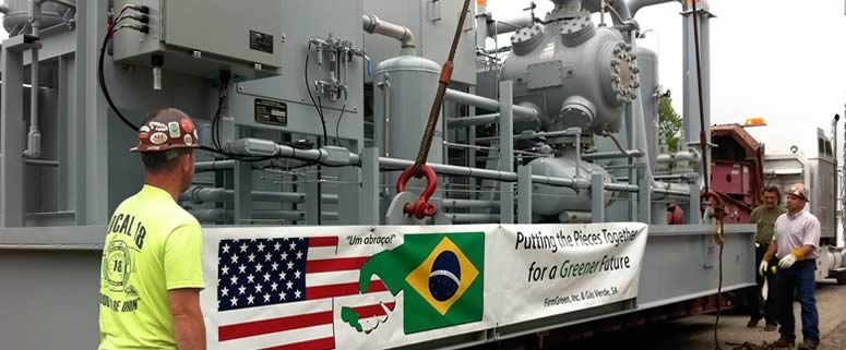 FGI Transports Final Shipment of Equipment to produce fuel from trash.