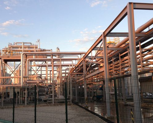 View of Novo Gramacho biogas plant